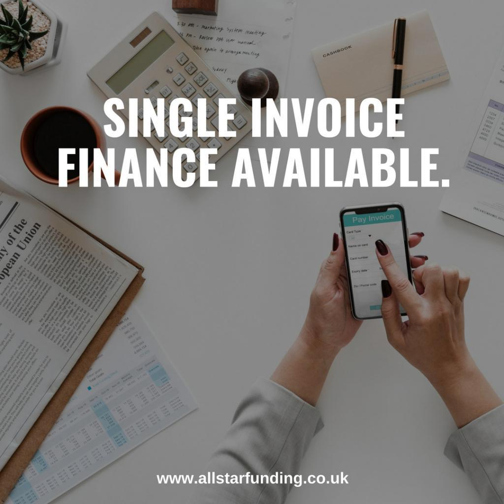 Single Invoice Finance Available